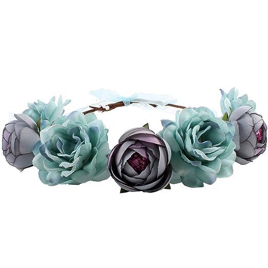 Gazechimp Tiara Floral Dessin Bandeaux Serre Tête Garland Femme Accessoire  Cheveux Fille , Blanc, Taille unique Amazon.fr Vêtements et accessoires
