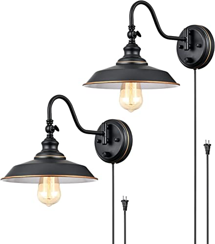 TRLIFE Dimmable Gooseneck Wall Sconces
