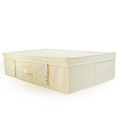 HANGERWORLD Large Ivory Wedding Dress Bridal Gown pH Neutral Space Saving Storage Travel Box with Acid