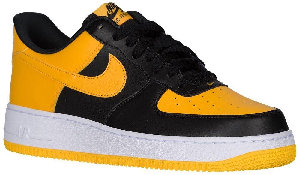 [ナイキ] Nike Air Force 1 Low - メンズ バスケット [並行輸入品] B072PTWLC2 US08.5 Black/University Gold/White