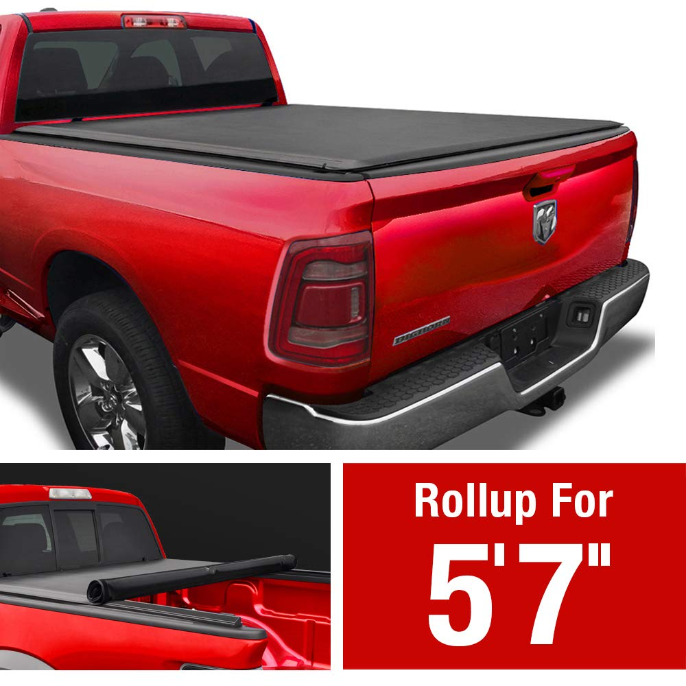MaxMate Soft Roll Up Truck Bed Tonneau Cover Compatible with 2019-2021 Ram 1500 New Body Style | Fleetside 5'7