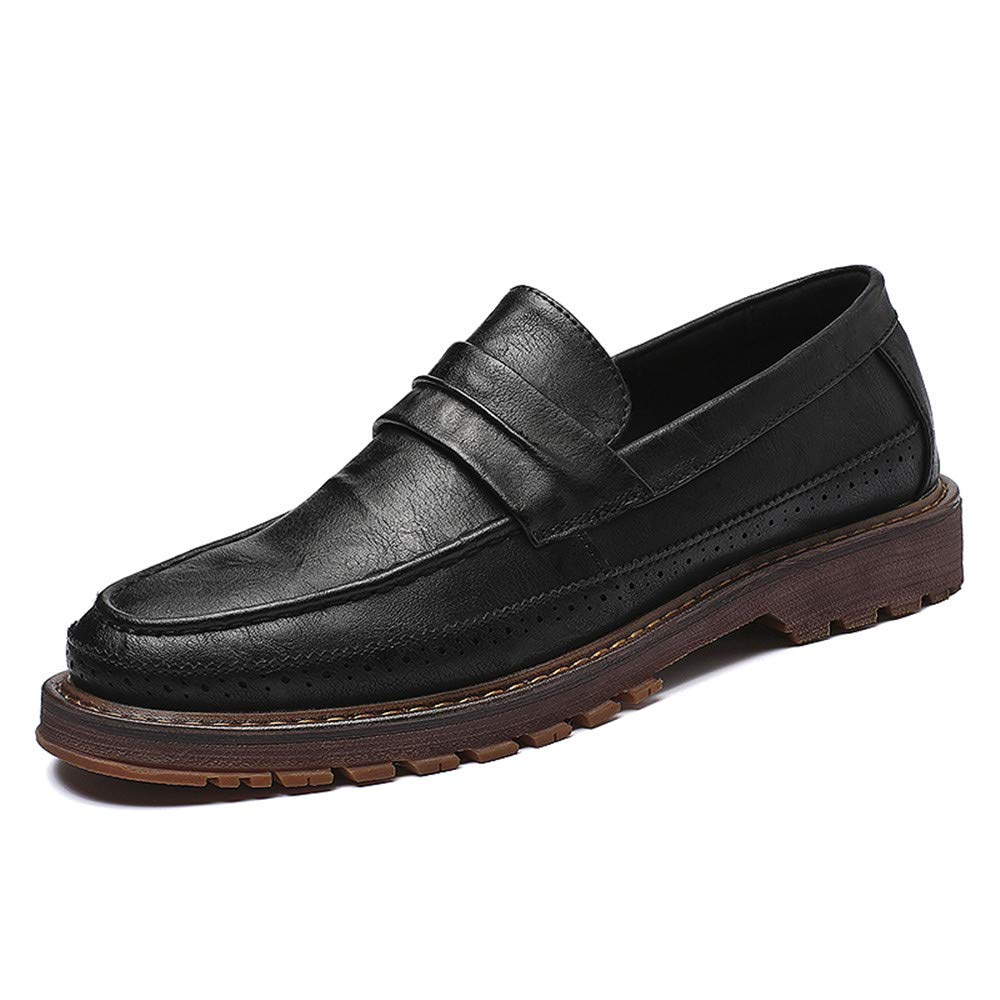 Black JIALUN-shoes Men's Classico Business Oxford Casual Classic Simple and Flexible Outsole Formal shoes
