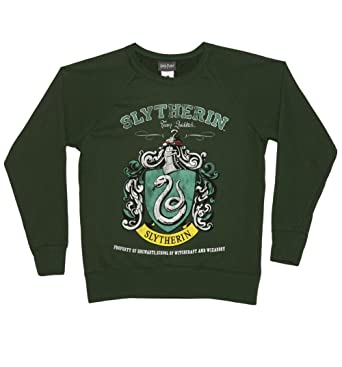 bff0349053d TruffleShuffle Womens Harry Potter Slytherin Team Quidditch Sweater ...
