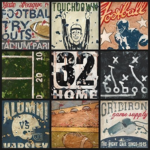 Bowl Stretched Canvas - Football Bowl Bound Sports Decor Wall Art Collage by Aaron Christensen Stretched Canvas Reproduction. Mulitple sizes listed. IMade in my Portland, Oregon studio.