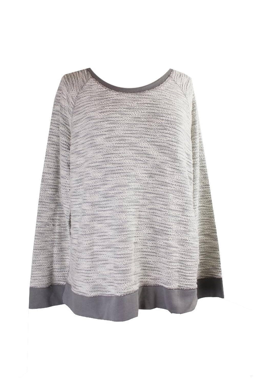 Style & Co Sport Light Grey Lurex Pullover XL