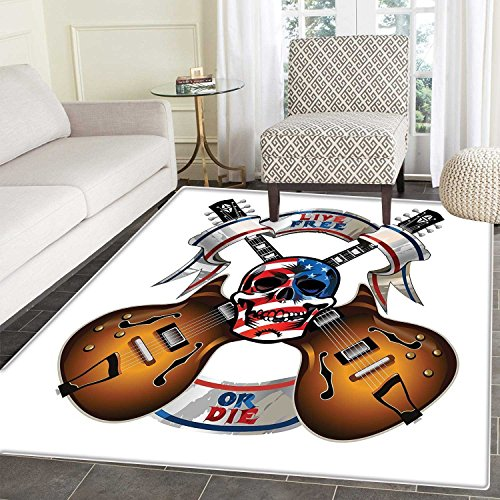 Guitar Customize Floor mats for home Mat Crossed Electric Gu