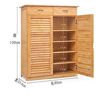 Amazoncom Mcuwehgfet Wooden Shoe Cabinet Bamboo Shoe Rack Solid