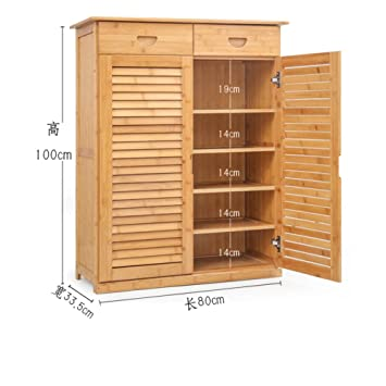 Wooden Shoe Box Storage.Mcuwehgfet Wooden Shoe Cabinet Bamboo Shoe Rack Solid Wood Simple Shoebox Storage Room Shoe Rack Multilayer Multifunction Porch Door Cabinet D