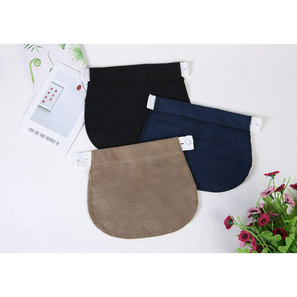 TAOHOU Embarazo Cintur/ón Cintur/ón El/ástico Ajustable Extensor de Cintura Pantalones para Embarazadas Negro
