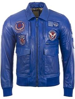 161aa51c4ac Aviatrix Men s Super-Soft Real Leather Patch Pilot Flying Fashion Jacket  (9079)