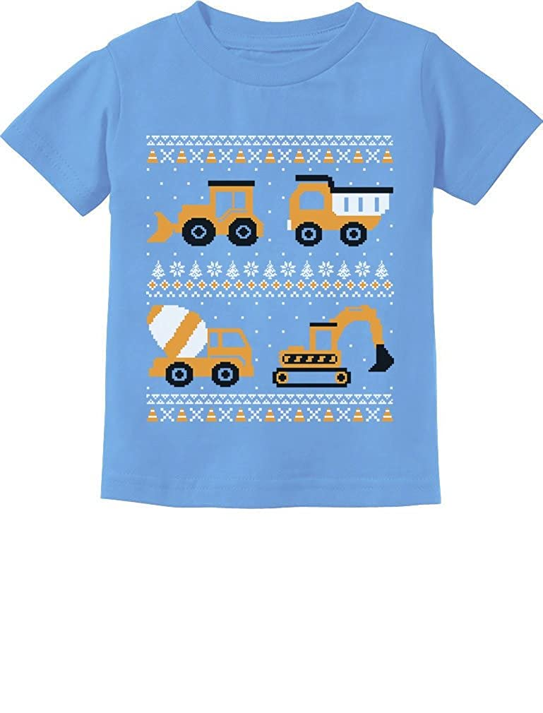 Tractors /& Bulldozers Ugly Christmas Sweater Toddler//Infant Kids T-Shirt