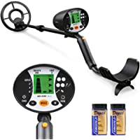 Meterk High Sensitivity Handheld Underground Metal Detector for Yard, Gold Digger Treasure Hunter with Headphone