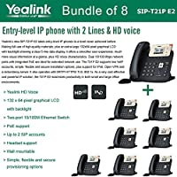 Yealink SIP-T21P E2 Bundle of 8 Entry-level IP phone 2 Lines HD voice PoE LCD