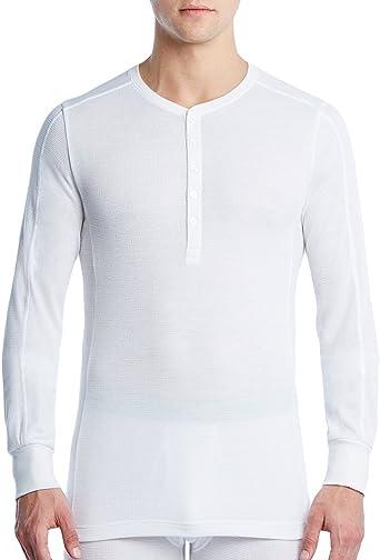 IST Men/'s Tartan-Placket Tech Red Henley Undershirt Shirt 2 X