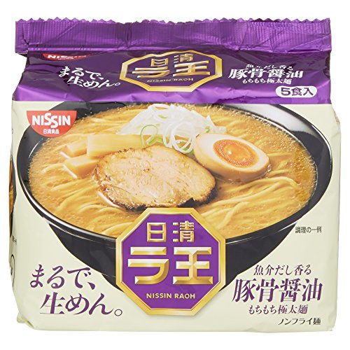 Nissin - Raoh Japanese Instant Ramen Pork Bone Soy Soup Noodles (For 5 Servings) (Instant Ramen)