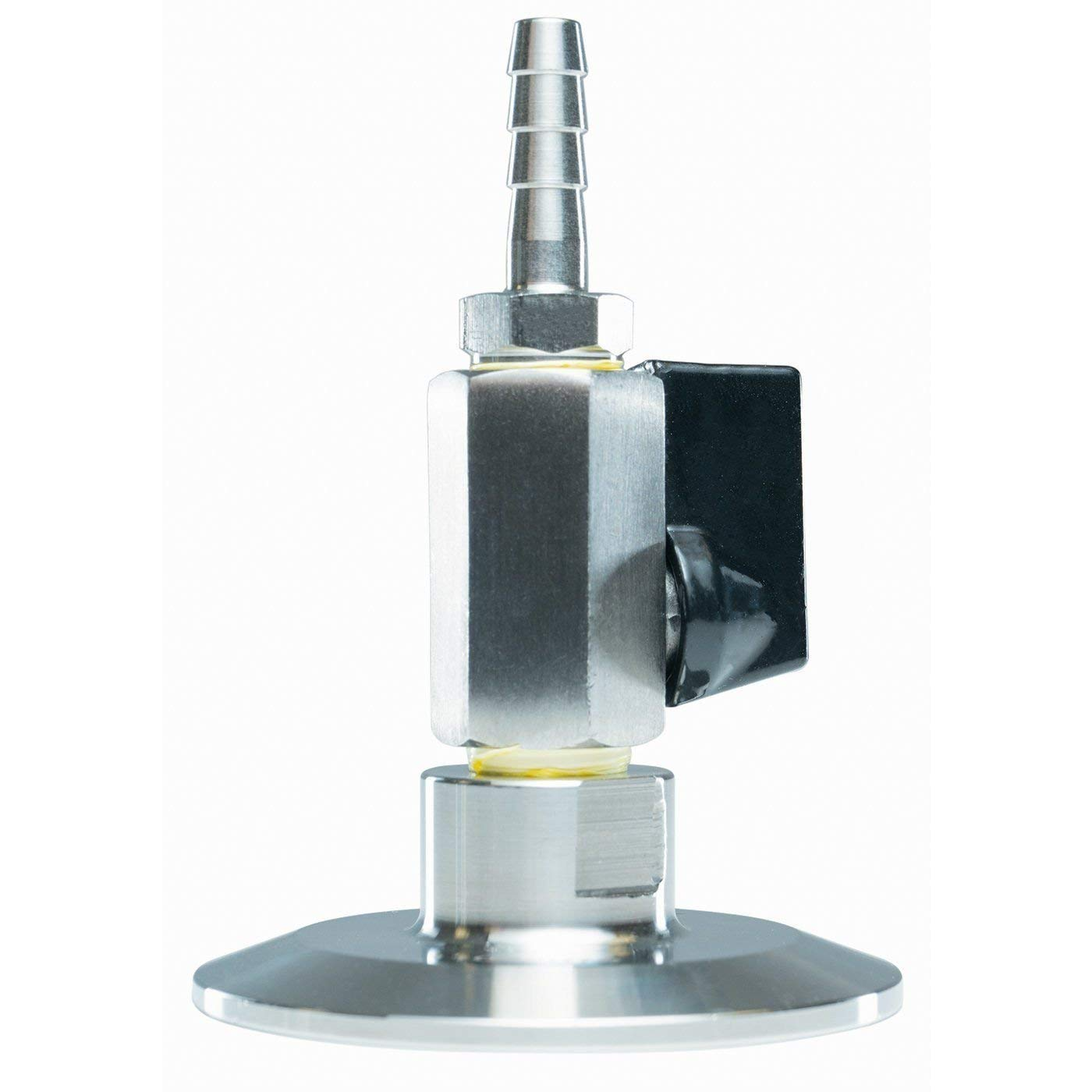 BVV 3 Inch Tri-Clamp Topcap with Valve and 1//4 37 Degree JIC Flare