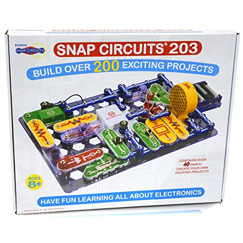 Snap Circuits 203 Electronics Exploration Kit | Over 200 STEM Projects | 4-Color Project Manual | 42 Snap Modules | Unlimited Fun (Snap Electronics Kit)