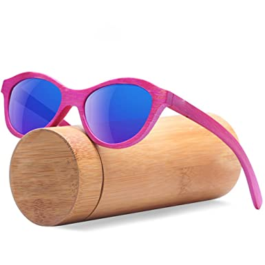 a157d185645 Polarized Wooden Sunglasses Men Bamboo Sun Glasses Women Wood Sunglasses -  Blue