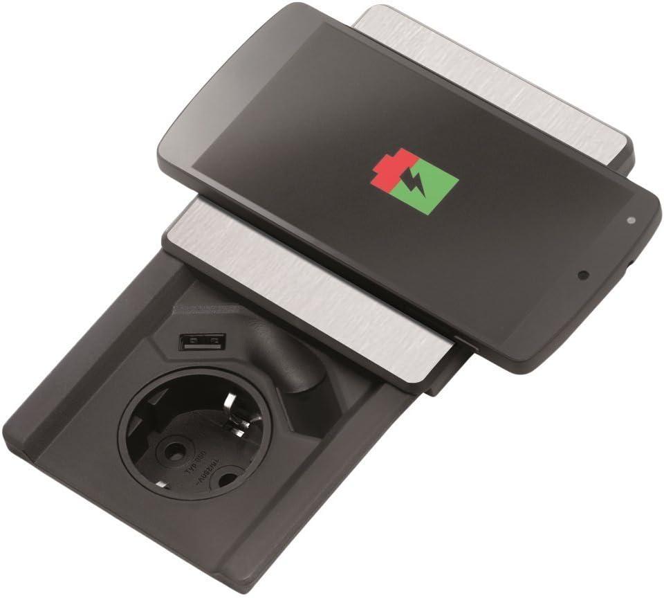 Evoline® Qi Wireless Charger Ladestation Handy kabellos Induktion Ladegerät USB