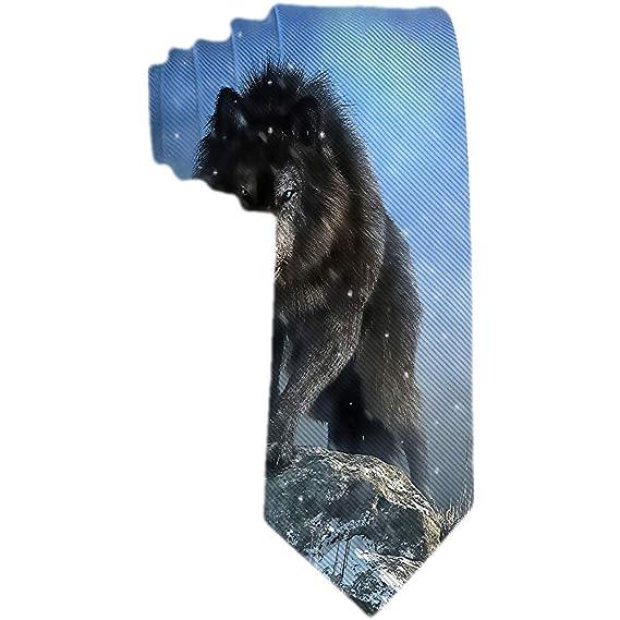 Corbata clásica para hombres Corbata Lobo feroz Rey Animal Corbata ...