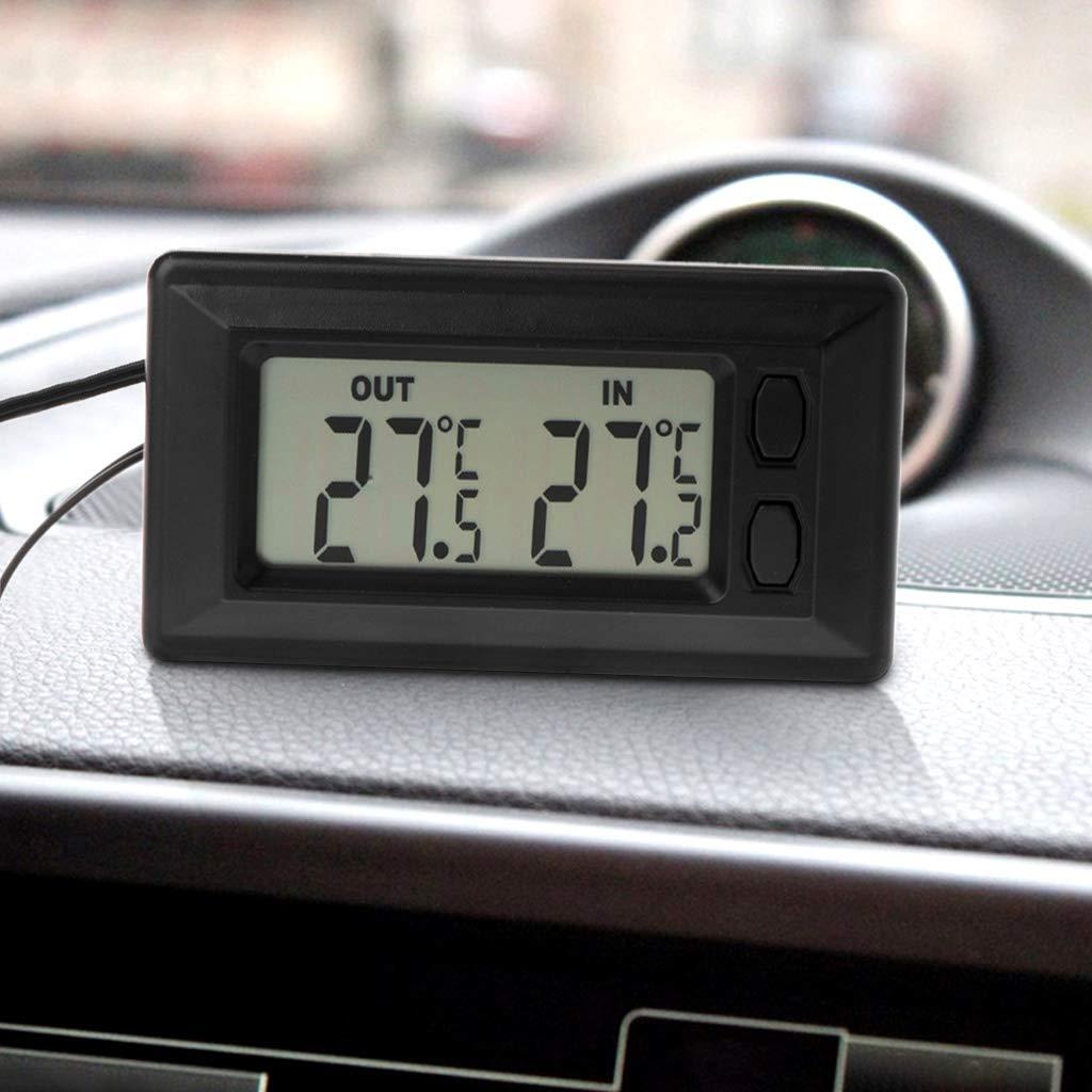 Freshsell Auto-Thermometer mit LCD-Display mit 1,5 m langem Kabel f/ür Innen und Au/ßenbereich