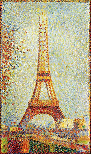 Whimsical Seurat Eiffel Tower Wooden Jigsaw - Jigsaw Puzzle Eiffel Tower