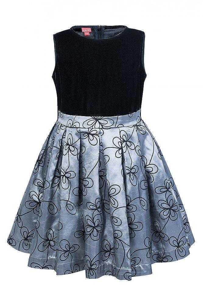 Noir-gris 134 (9 ans) La-V Robe Fille