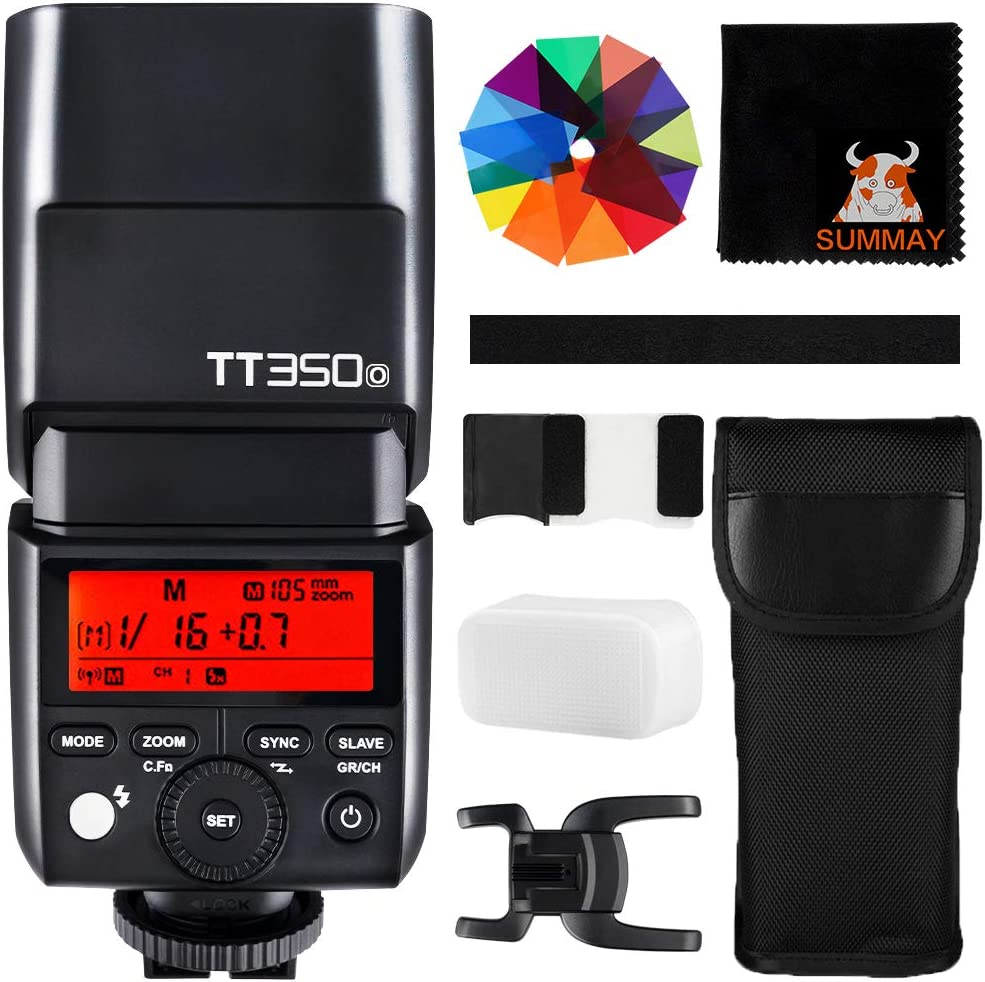 GODOX TT350O TTL 2.4G Camera Flash GN36 1/8000s HSS Wireless Mini Flash Speedlight for Olympus Panasonic Cameras (TT350O)