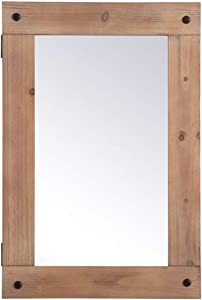 Elegant Decor Wooden Mirror Medicine Cabinet 22 Inch X 33 Inch in Brown