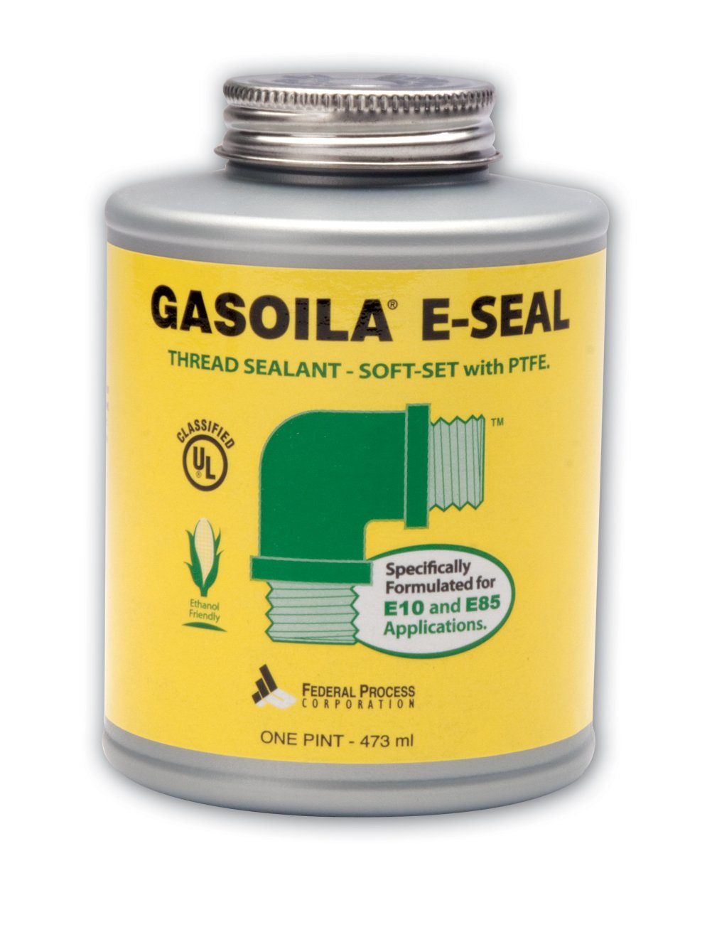 Gasoila E-Seal Pipe Thread Sealant with PTFE Paste, Non Toxic, -100 to 600 Degree F, 1/4 Pint Brush Federal Process GE04