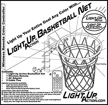 Amazon Com Light Up Action Basketball Net Basketball Goal Lighting