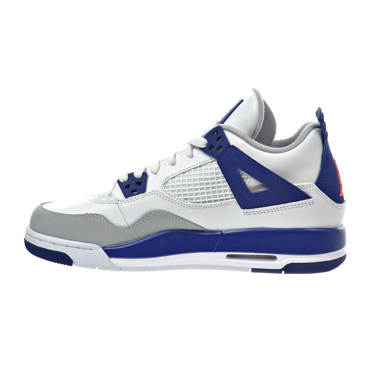 newest a7b14 6fc75 Amazon.com   Jordan Air 4 Retro GG Big Kid s Shoes White Hyper Orange Deep  Royal Blue Wolf Grey 487724-132 (6 M US)   Basketball