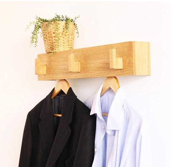 Amazon.com: Coat Rack, All-Wooden Wall Hanger Coat Rack ...