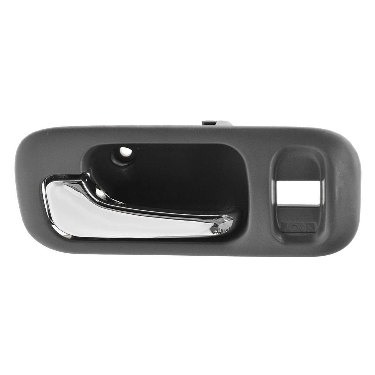 Inside Interior Gray /& Chrome Door Handle w// Bezel LH for Chevy Truck Pickup