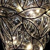Exhart Clear Solar Lantern – Glass Tear-Shaped