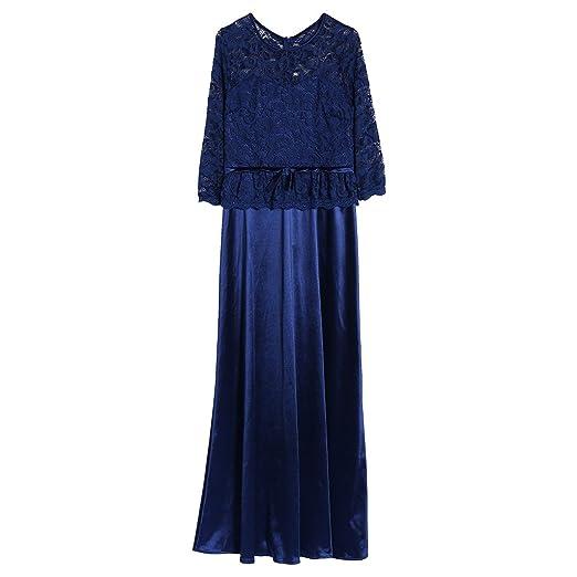 1c8b45f7ff Aixia Wedding Party Vintage Lace Evening Dress,Make You Look Slim Elegant (Navy  blue