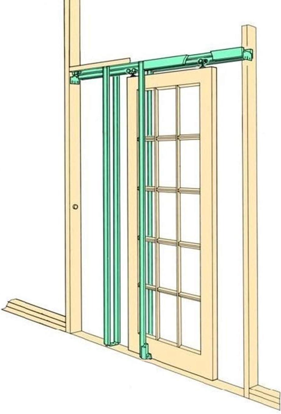T-Mech Kit para Puertas Correderas Ocultas de Fácil Instalación Decoración Interiores