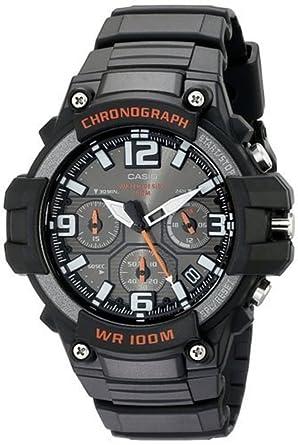 af9b775b7a Amazon   [カシオ]CASIO 腕時計 クロノグラフ MCW-100H-1AV ブラック ...