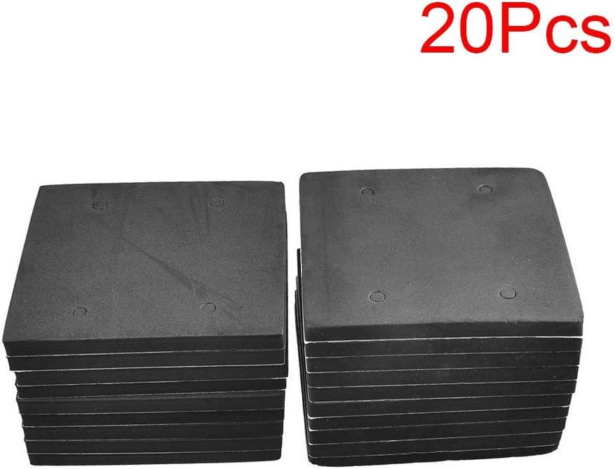 4510 4.5 x 4.3 x 0.3 LDEXIN 20 Pcs Rubber Pad Rectangle Adhesive Foam Sander Mat Replacement Sander Back Pad Sponge Gasket for Makita Tool