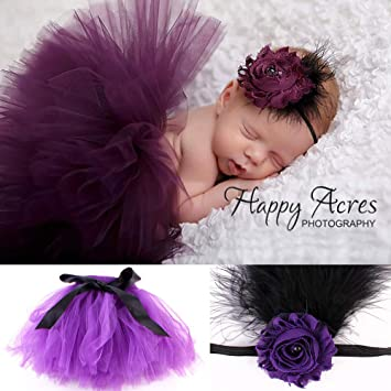 Newborn Infant Glitter Tutu Skirt Headband Set Baby Girl Photography Prop Outfits 0-6 Months