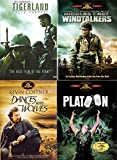 101 Box Set War Movie Collection Windtalkers/Platoon/Dances with Wolves & Tigerland History 4-DVD Bundle