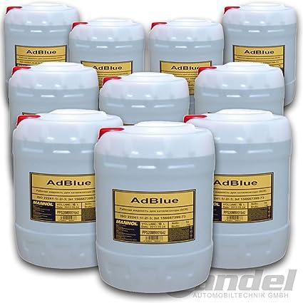 AdBlue - 100 litros, solución de urea SCR de 32, ISO 22241: Amazon ...