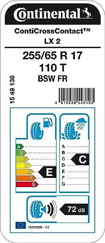 Pneumatico Per tutte le stagioni CONTINENTAL ContiCrossContact LX 2-255//65//17 110T E//C//72dB SUV e Fuoristrada