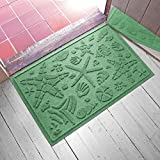 AquaShield Beachcomber Doormat, 2'' x 3'', Light Green
