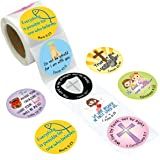 Bible Verse Stickers Christian Scripture Quotes for Church VBS 200PCS Per Roll