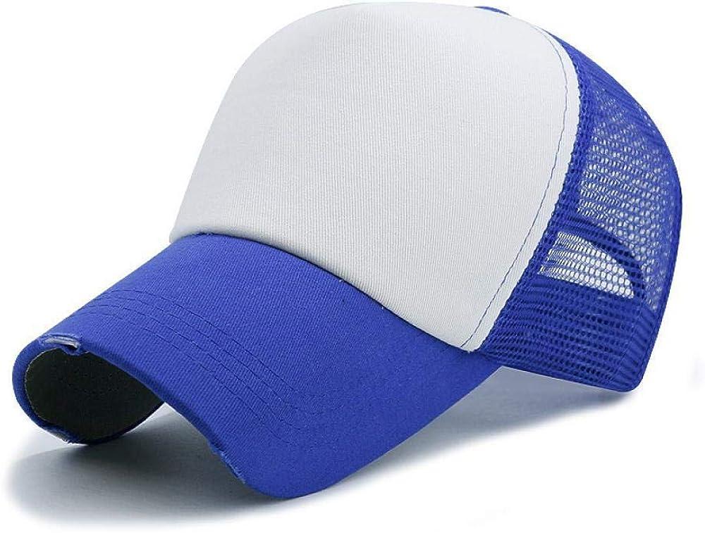 Logo DIY Solid Color Baseball Hats Adult Summer Outdoors Hip Hop Punk Rock Mesh Orange Black