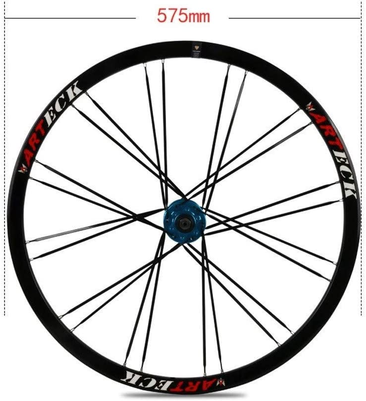 de 26 Pulgadas de aleaci/ón de Aluminio MTB Ruedas V-Brake Disc aro Freno Cerrado con 11 H/íbrido Velocidad del Viaje de la Bici,White-26inch AIFCX Juego de Ruedas de Bicicletas