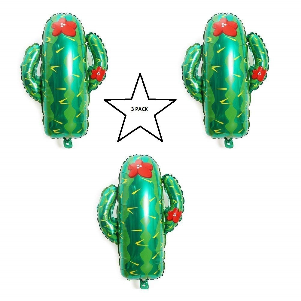 Large Cactus Balloon 3 Pack Party Balloon Cactus Balloons