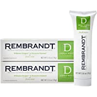 Rembrandt Deeply White Peroxide Whitening Toothpaste 2.6 oz, 2 Pack, Fresh Mint Flavor