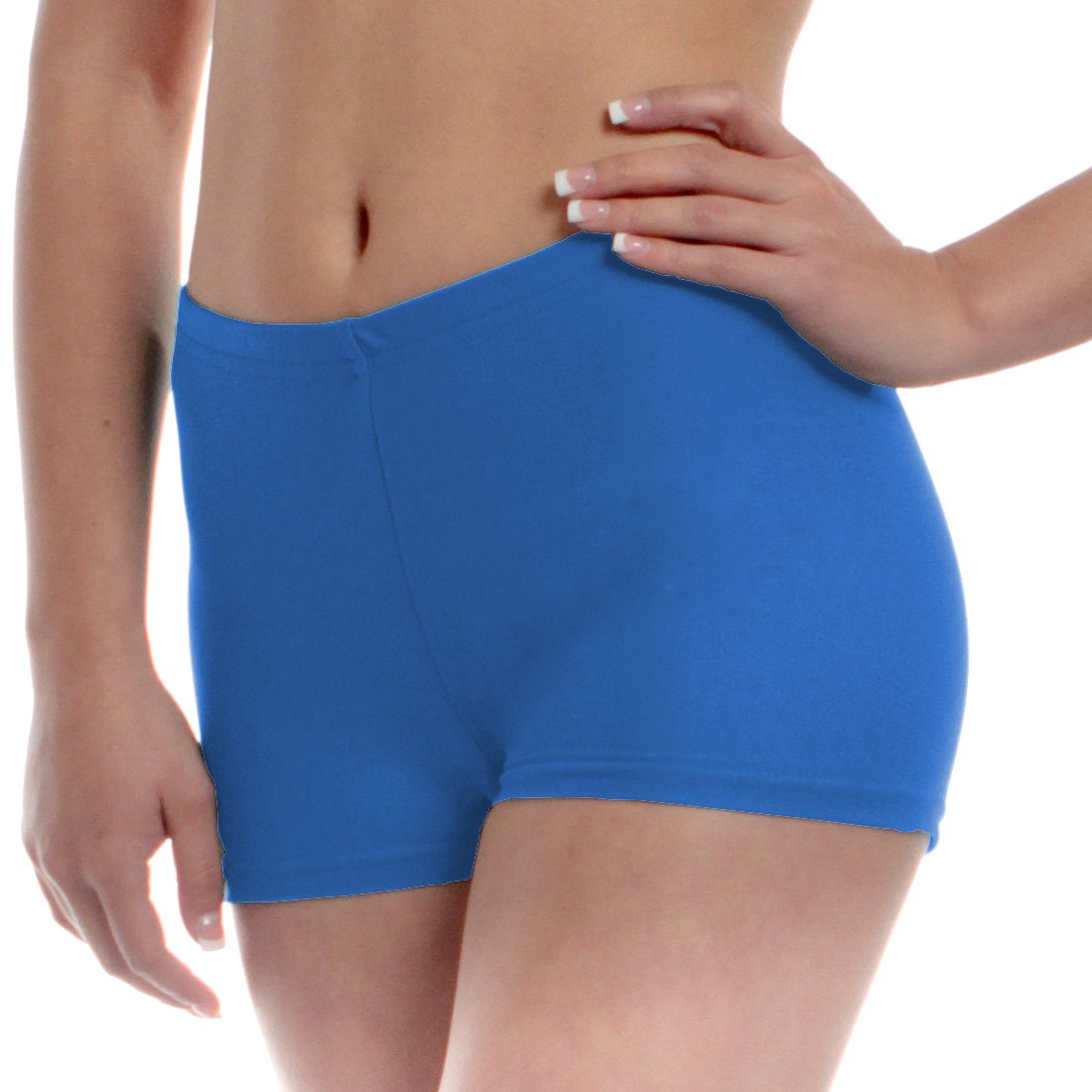Mens Long Dance Shorts Extra Small Blue by B Dancewear Adult Sizes by Bailar Dancewear